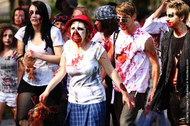 Zombies Walk Sydney City Streets