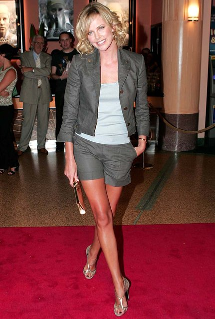 Charlize Theron attending the North Country Premiere in Melbourne Australia, 2006. (Photo by Splash News)