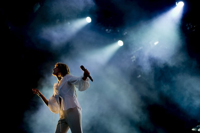 British band Florence and the Machine performs during the Way Out West rock festival in Gothenburg, Sweden, August 14, 2015. (Photo by Adam Ihse/Reuters/TT News Agency)