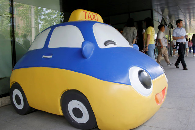 A mascot of Didi Chuxing is seen at the company's headquarters in Beijing, China, May 18, 2016. (Photo by Kim Kyung-Hoon/Reuters)