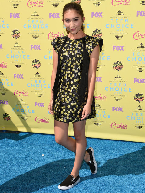 Actress Rowan Blanchard attends the Teen Choice Awards 2015 at the USC Galen Center on August 16, 2015 in Los Angeles, California. (Photo by Jason Merritt/Getty Images)