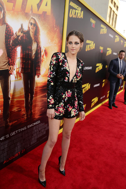"""Kristen Stewart seen at The World Premiere of Lionsgate's """"American Ultra"""" at Ace Hotel on Tuesday, August 18, 2015, in Los Angeles, CA. (Photo by Eric Charbonneau/Invision for Lionsgate/AP Images)"""