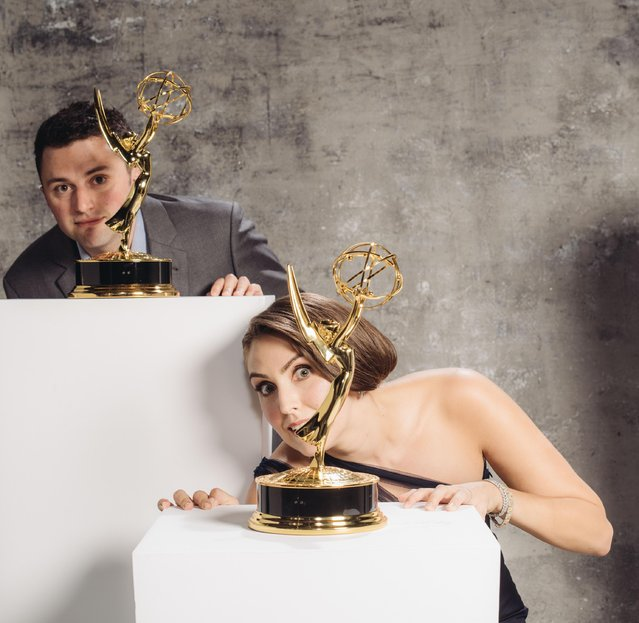 Brendan Fitzgibbons, Lauren Adams poses for a portrait at the Television Academy's 67th Emmy Awards Performers Nominee Reception at the Pacific Design Center on Saturday, September 19, 2015 in West Hollywood, Calif. (Photo by Casey Curry/Invision for the Television Academy/AP Images)