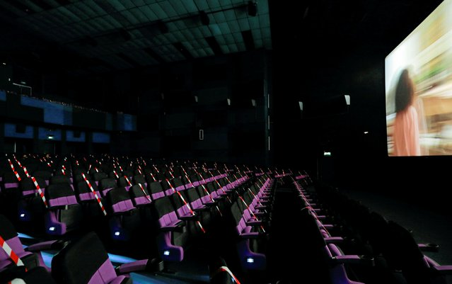 Empty chairs are seen during a movie time at Savoy cinema, amid concerns about the spread of the coronavirus disease (COVID-19), in Colombo, Sri Lanka, July 11, 2020. (Photo by Dinuka Liyanawatte/Reuters)