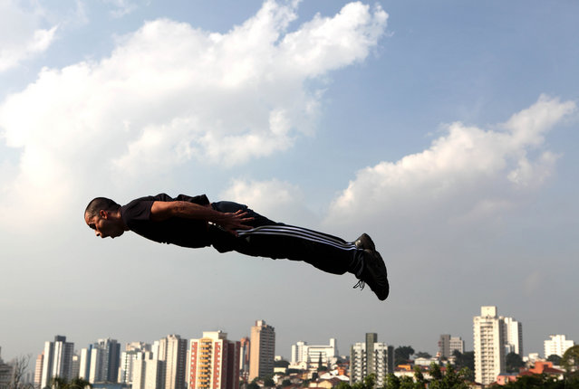 """Jumpology"". ""Diogo – le parkour Sao Paulo, Brasil"". (Photo by Ana Luz)"