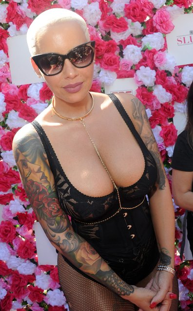 Model and actress Amber Rose is seen on October 1, 2016 in Los Angeles, California. (Photo by JMA/Star Max/GC Images)