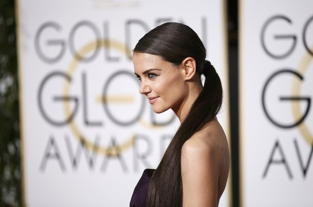 Actress Katie Holmes arrives at the 72nd Golden Globe Awards in Beverly Hills, California January 11, 2015. (Photo by Danny Moloshok/Reuters)
