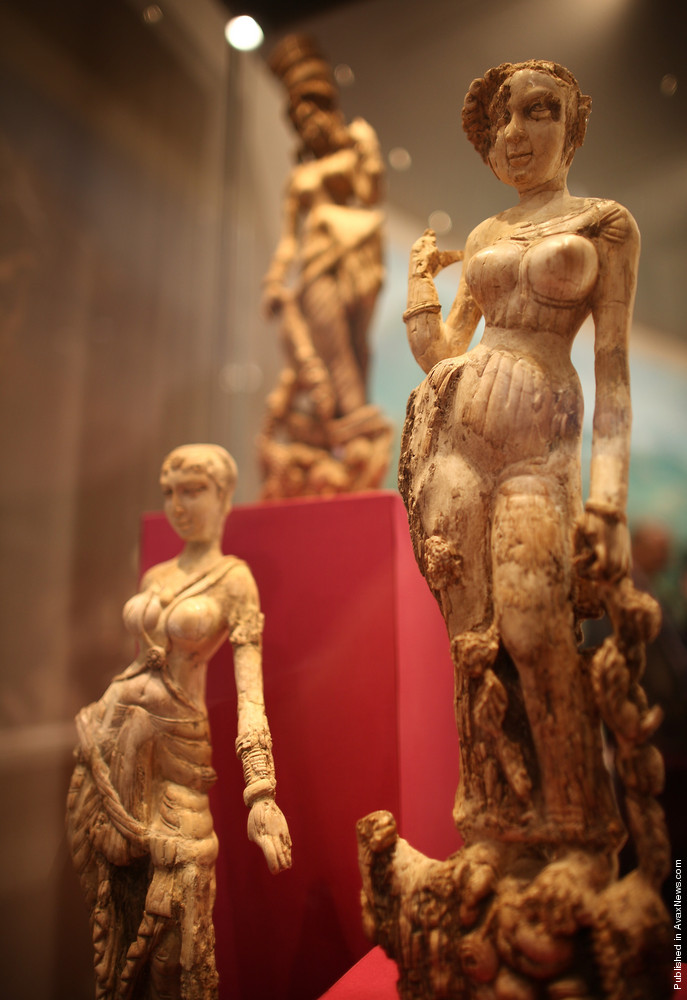 Exhibits On Show At The «Afghanistan Crossroads Of The Ancient World» Exhibition