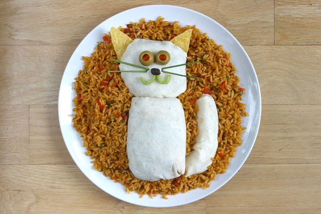 """""""Kasia Haupt's sandwich monsters: Purrr-ito"""". (Photo by Kasia Haupt/Caters News)"""