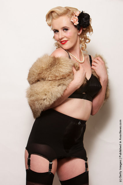Miss Bunni Lambada poses backstage during the Miss Pin Up NSW competition