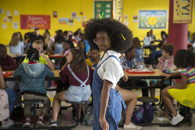 "This image released by Universal Pictures shows Marsai Martin in a scene from ""Little"". (Photo by Universal Pictures via AP Photo)"