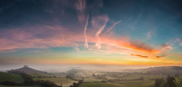"""Winter sunrise over West Dorset""; Bridport, West Dorset, UK. (Photo by Stephen Banks/PA Wire)"