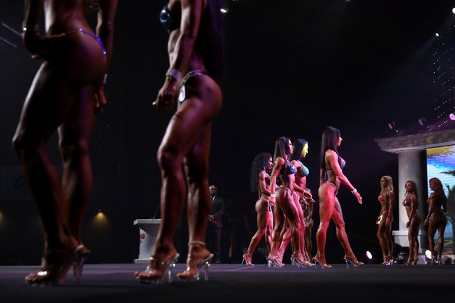 Contestants in the Bikini International contest walk the stage at the Greater Columbus Convention Center during the Arnold Sports Festival 2017 on March 4, 2017 in Columbus, Ohio. (Photo by Maddie Meyer/Getty Images)