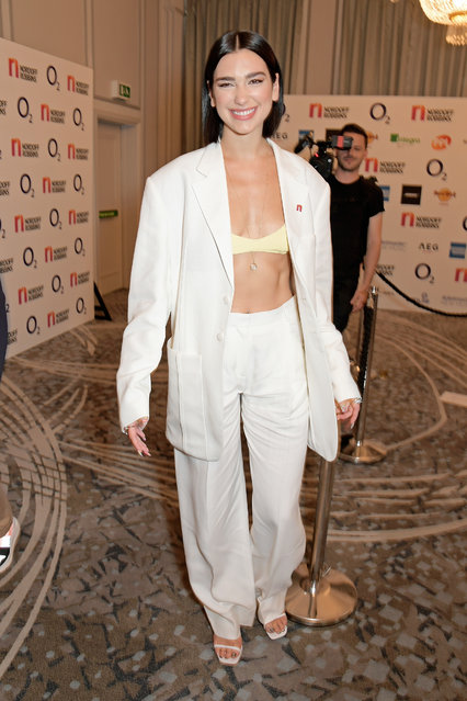 Dua Lipa attends the Nordoff Robbins O2 Silver Clef Awards 2019 at The Grosvenor House Hotel on July 05, 2019 in London, England. (Photo by David M. Benett/Dave Benett/Getty Images)