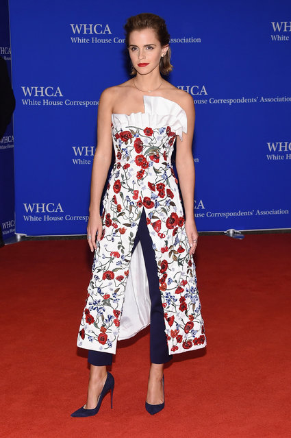 Actress Emma Watson attends the 102nd White House Correspondents' Association Dinner on April 30, 2016 in Washington, DC. (Photo by Larry Busacca/Getty Images)