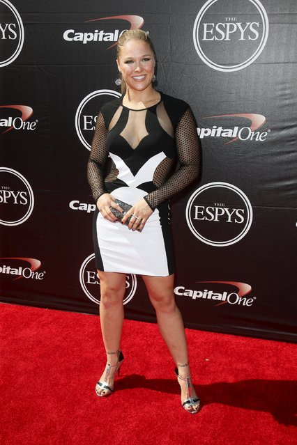 UFC fighter Ronda Rousey arrives for the 2015 ESPY Awards in Los Angeles, California July 15, 2015. (Photo by Danny Moloshok/Reuters)