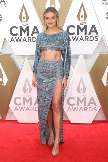 Kelsea Ballerini attends the 53nd annual CMA Awards at Bridgestone Arena on November 13, 2019 in Nashville, Tennessee. (Photo by Taylor Hill/Getty Images)