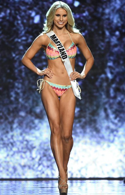 Miss Maryland USA Christina Denny competes in the swimsuit competition during the 2016 Miss USA pageant preliminary competition at T-Mobile Arena on June 1, 2016 in Las Vegas, Nevada. (Photo by Ethan Miller/Getty Images)