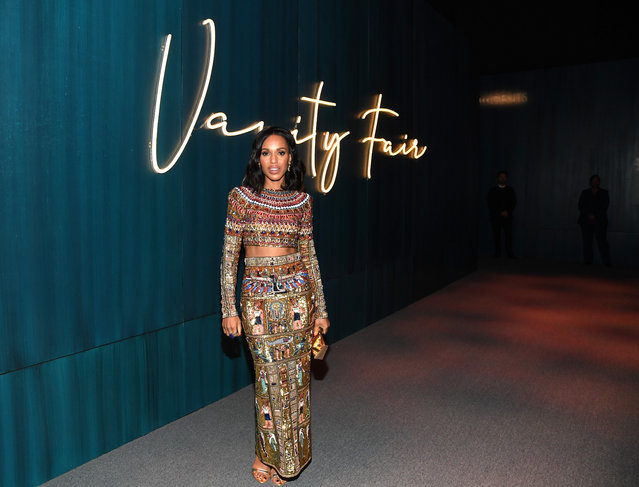 Kerry Washington attends the 2020 Vanity Fair Oscar Party hosted by Radhika Jones at Wallis Annenberg Center for the Performing Arts on February 09, 2020 in Beverly Hills, California. (Photo by Kevin Mazur/VF20/WireImage)