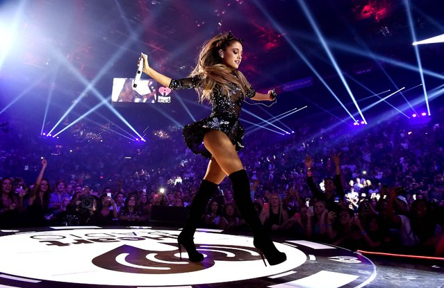 Recording artist Ariana Grande performs onstage during the 2014 iHeartRadio Music Festival at the MGM Grand Garden Arena on September 19, 2014 in Las Vegas, Nevada. (Photo by Kevin Winter/Getty Images for iHeartMedia)