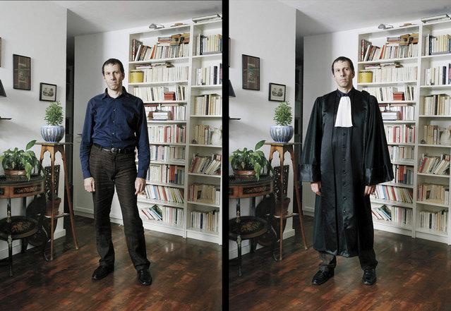 Stephane is a judge in Paris. (Photo by Bruno Fert/Picturetank)