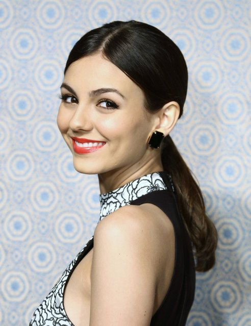 Actress Victoria Justice attends the Alice + Olivia By Stacey Bendet Fall 2013 fashion show presentation during Mercedes-Benz Fashion Week on February 11, 2013 in New York City. (Photo by Michael Loccisano)