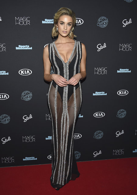 Allie Ayers attends the Sports Illustrated Swimsuit Issue launch party at Magic Hour at Moxy NYC Times Square on Wednesday, February 14, 2018, in New York, USA. (Photo by Evan Agostini/Invision/AP Photo)