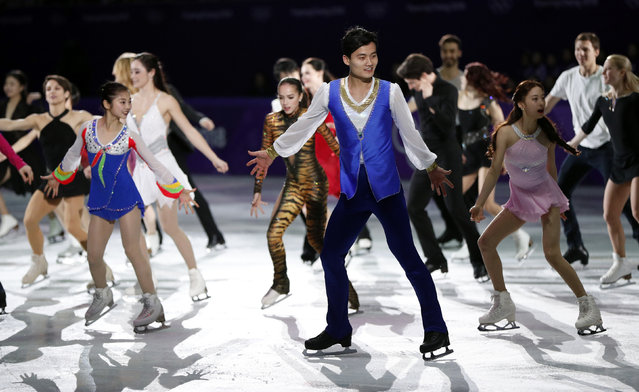 Ryom Tae Ok and Kim Ju Sik of North Korea (front) perform during the figure skating gala event during the Pyeongchang 2018 Winter Olympic Games at the Gangneung Oval in Gangneung on February 25, 2018. (Photo by John Sibley/Reuters)