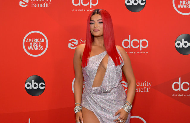 In this image released on November 22, American singer Bebe Rexha attends the 2020 American Music Awards at Microsoft Theater on November 22, 2020 in Los Angeles, California. (Photo by Emma McIntyre/AMA2020/Getty Images for dcp)