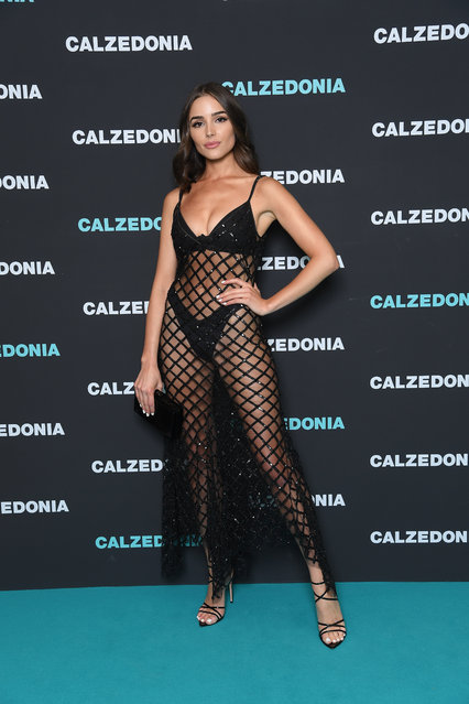 Olivia Culpo attends the Calzedonia Summer Show on April 10, 2018 in Verona, Italy. (Photo by Venturelli/Getty Images)