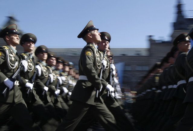 Russian servicemen take part in the Victory Parade on Moscow's Red Square May 9, 2013. (Photo by Sergei Karpukhin/Reuters)