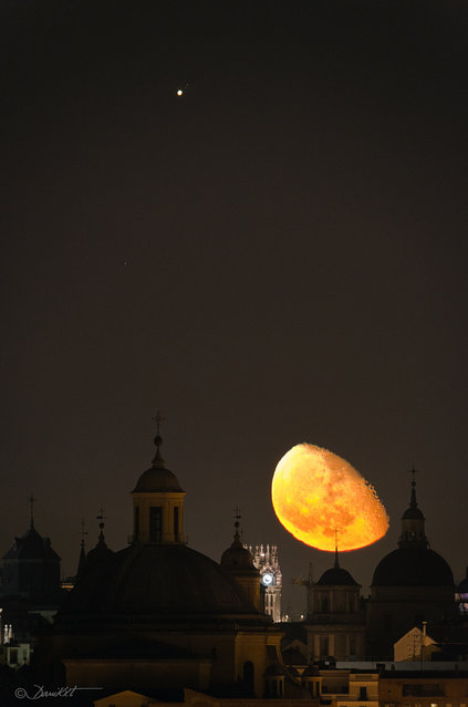 """""""Jupiter and Moon over Madrid"""". (danicaxete)"""