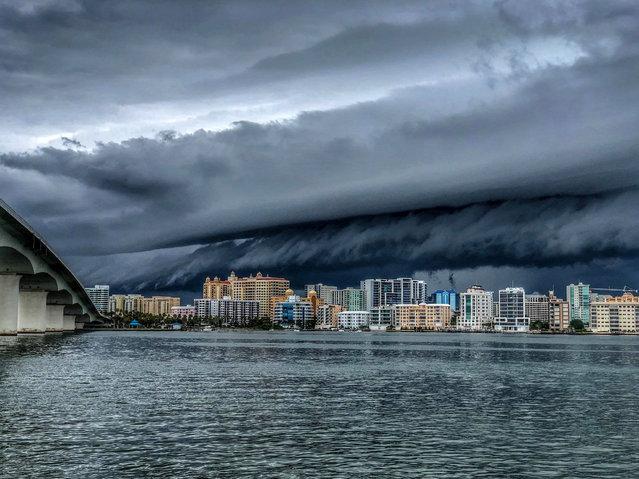 A storm is seen in Sarasota, Florida, June 24, 2018. (Courtesy of Val Vasilescu/Facebook.com/Kingofsunsets via Reuters)