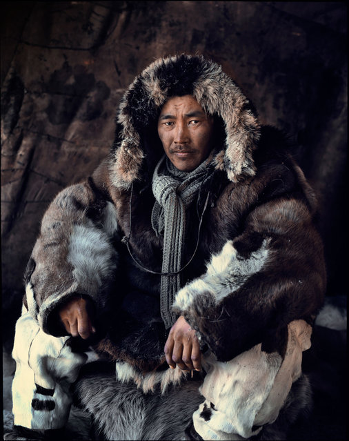 """""""Chukchi"""". The ancient Arctic Chukchi live on the peninsula of the Chukotka. Unlike other native groups of Siberia, they have never been conquered by Russian troops. Their environment and traditional culture endured destruction under Soviet rule, by weapons testing and pollution. (Jimmy Nelson)"""