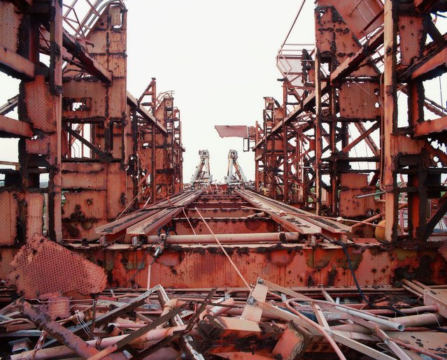 Horizontal Gantry from Top, White Room Removed –Launch Complex 19, Gemini Titan, Cape Canaveral air force station, Florida in 2005. (Photo by Roland Miller)