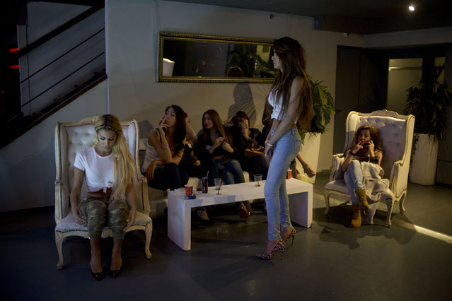 Contestants wait for their call during auditions for the first Miss Trans Israel beauty pageant in Tel Aviv, Israel, Thursday, March 3, 2016. (Photo by Ariel Schalit/AP Photo)