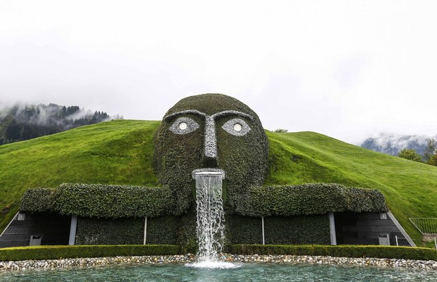 General view of the entrance to the Swarowski Crystal World museum on its reopening day following renovation, in the western Austrian village of Wattens April 30, 2015. (Photo by Dominic Ebenbichler/Reuters)