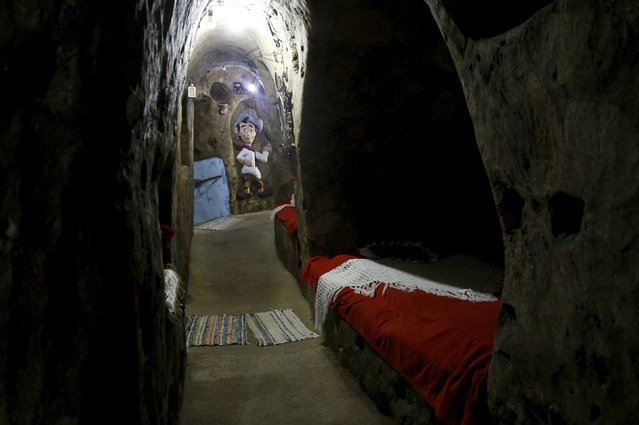 A hallway of a house built underground by Manuel Barrantes is pictured in San Isidro de Perez Zeledon, Costa Rica, March 14, 2016. (Photo by Juan Carlos Ulate/Reuters)