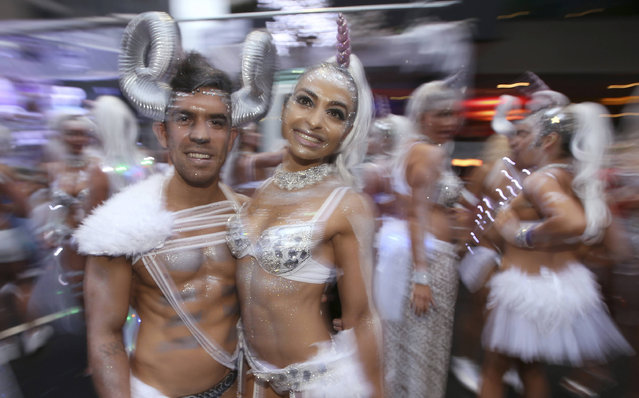 Participants prepare for the annual Gay and Lesbian Mardi Gras parade in Sydney, Saturday, March 4, 2017. (Photo by Rick Rycroft/AP Photo)