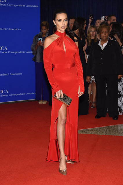 Model Adriana Lima attends the 102nd White House Correspondents' Association Dinner on April 30, 2016 in Washington, DC. (Photo by Larry Busacca/Getty Images)