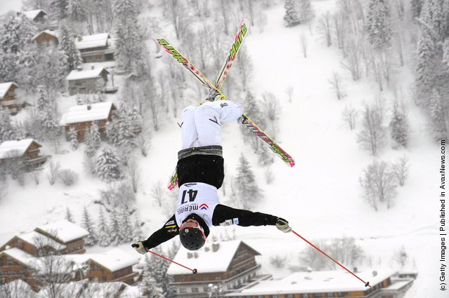 Sho Endo of Japan during the FIS Freestyle Ski World Cup Dual Moguls