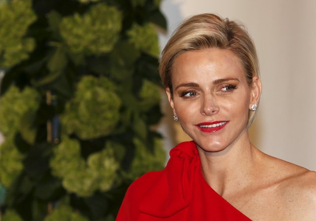 Princess Charlene arrives at the Red Cross Gala in Monte Carlo, Monaco July 25, 2015. The Red Cross Gala is a traditional annual charity event in the Principality of Monaco. (Photo by Jean-Paul Pelissier/Reuters)