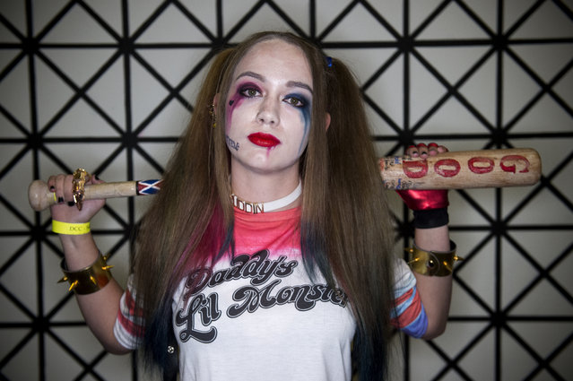 Harley Quinn aka Larina Campbell poses for a portrait during Denver Comic Con at the Colorado Convention Center on July 1, 2017, in Denver, Colorado. (Photo by Seth McConnell/The Denver Post)