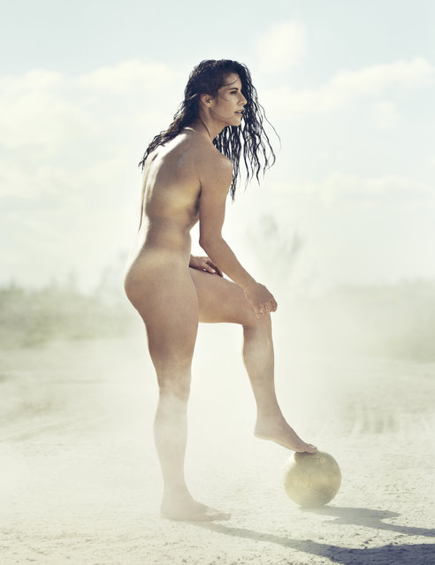 Ali Krieger in ESPN's The Body Issue 2015. ESPN The Magazine's The Body Issue set out seven years ago with one mission: to celebrate and explore the athletic form through powerful images and interviews. The cornerstone of each annual issue is The Bodies We Want photo portfolio, which features roughly 20 of the world's most elite athletes posing nude. (Photo by Williams + Hirakawa for ESPN The Magazine)