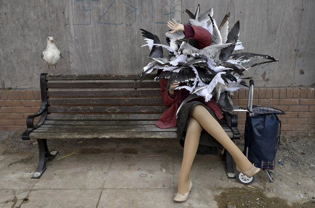 "A sculpture is pictured at ""Dismaland"", a theme park-styled art installation by British artist Banksy, at Weston-Super-Mare in southwest England, Britain, August 20, 2015. (Photo by Toby Melville/Reuters)"