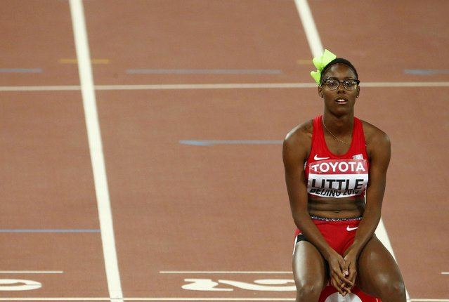 Shamier Little of U.S. before the women's 400 metres hurdles semi-final during the 15th IAAF World Championships at the National Stadium in Beijing, China August 24, 2015. (Photo by David Gray/Reuters)