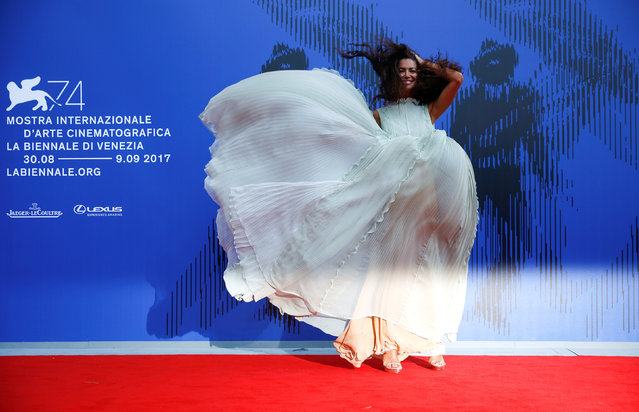 Showgirl Afef Jnifen arrives for the Franca Sozzani Award ceremony at the 74th Venice Film Festival in Venice, Italy on September 1, 2017. (Photo by Alessandro Bianchi/Reuters)