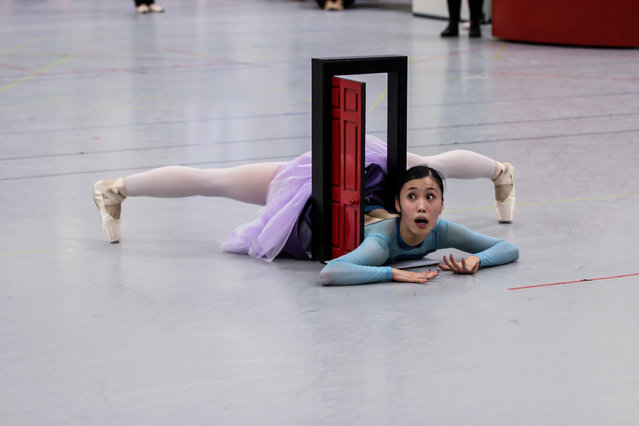 Ako Kondo as Alice, in rehearsals. (Photo by Ally Deacon/The Guardian)