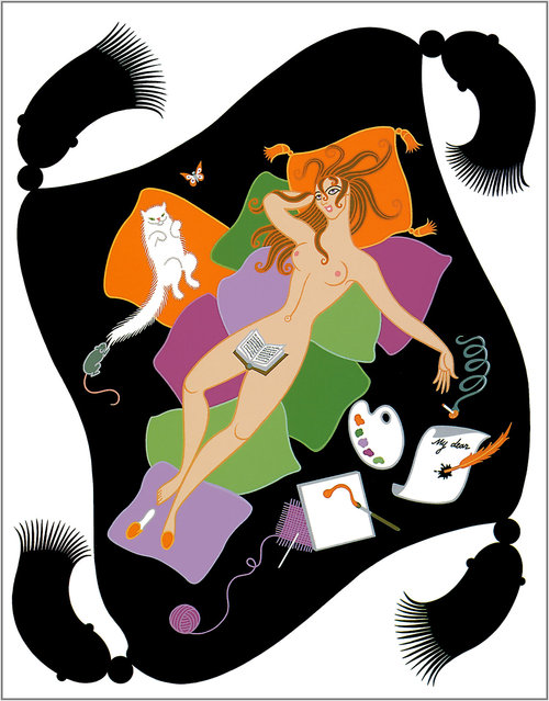 Romain de Tirtoff (Erte) – The Seven Deadly Sins: Sloth
