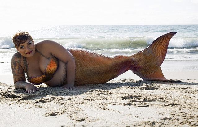 Project Mermaids model. (Photo by Angelina Venturella/Chiara Salomoni/Caters News Agency)